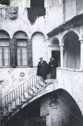 Palazzo Folco in una foto degli inizi del secolo scorso