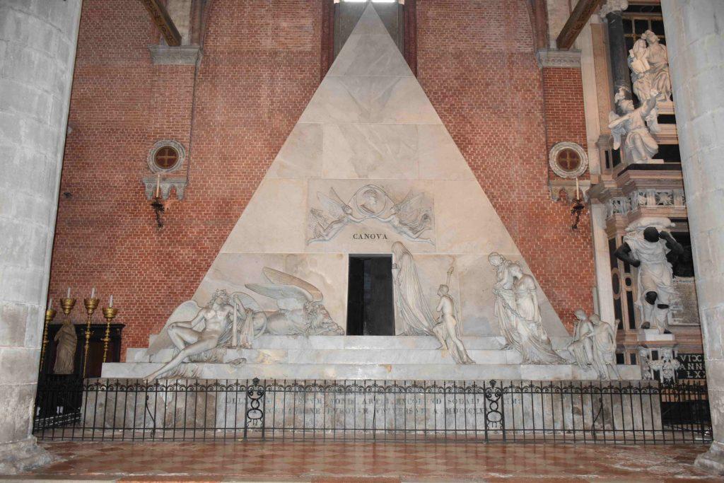 Al via i lavori di restauro  del cenotafio dedicato ad Antonio Canova a Venezia