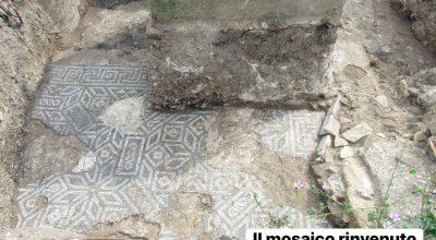 Un pavimento a mosaico di età romana imperiale riaffiora a Concordia Sagittaria (Ve)