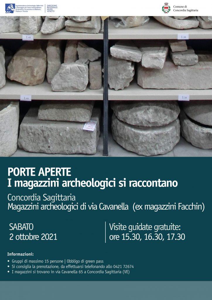 I magazzini archeologici di Concordia Sagittaria (Ve) si raccontano: sabato 2 ottobre visite guidate gratuite