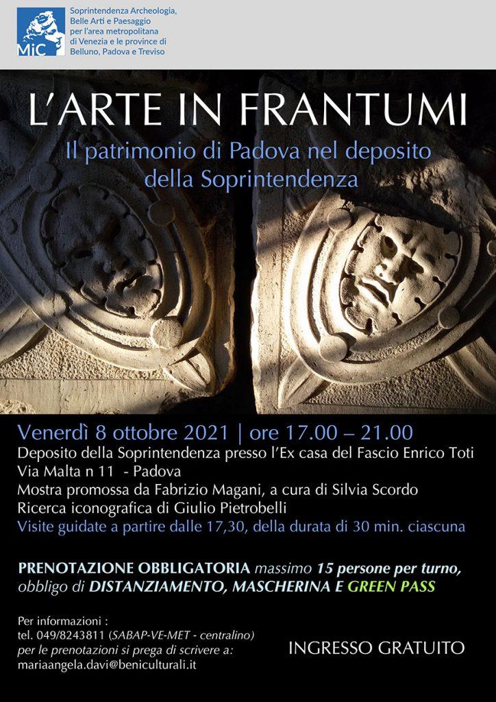 Venerdì 8 ottobre | Apertura straordinaria del Deposito della Soprintendenza a Padova, con visite guidate gratuite