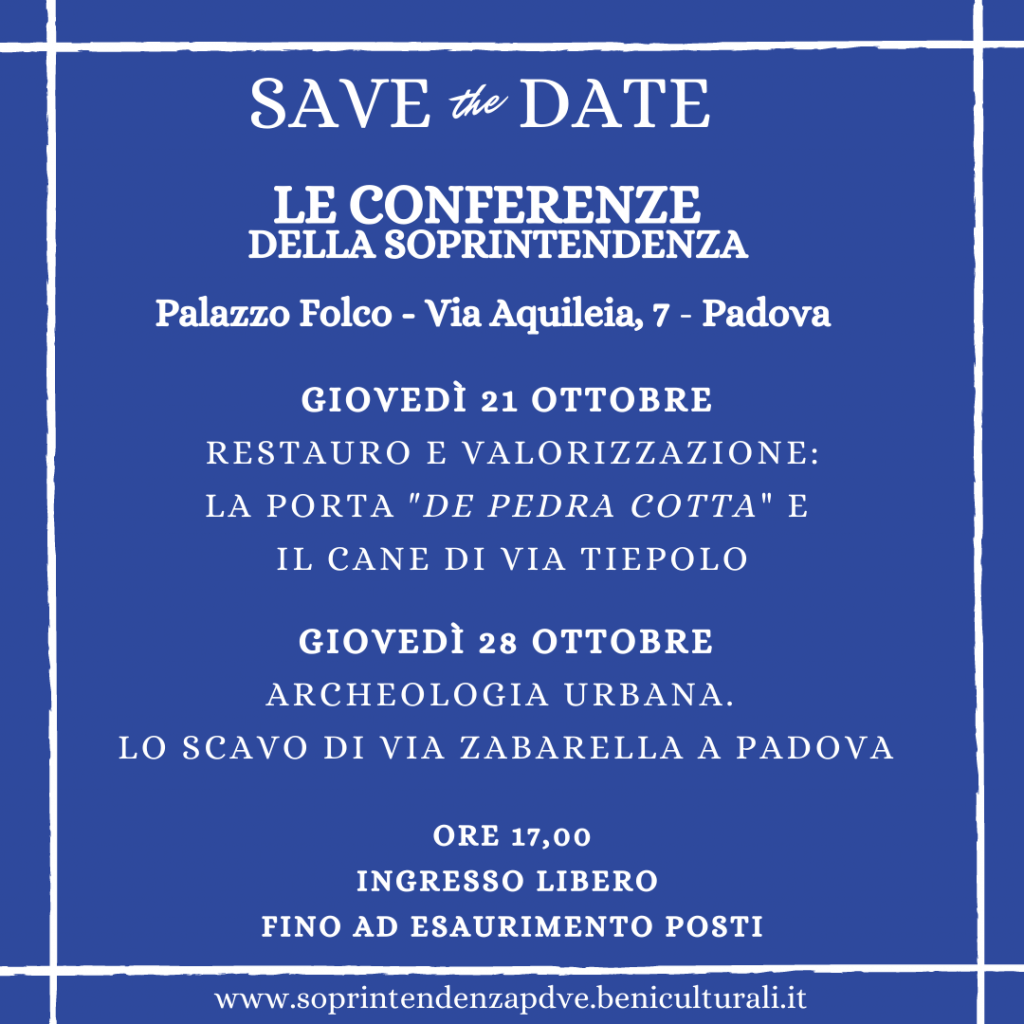 Apertura straordinaria di Palazzo Folco a Padova, sede della Soprintendenza: due conferenze per raccontare il lavoro di tutela e valorizzazione in città